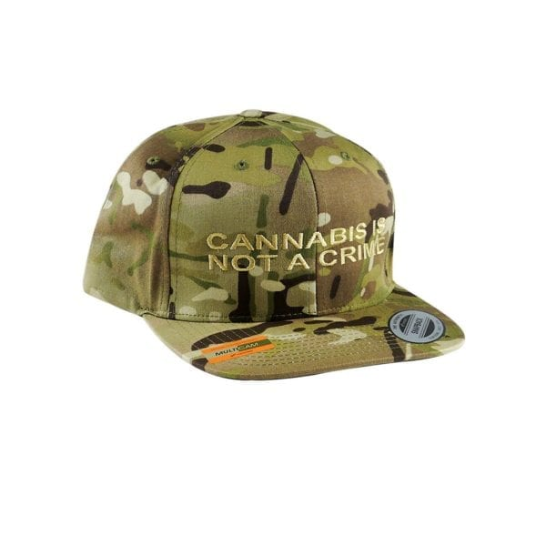 """""""Not a Crime"""" Snapback Hat – Brown Camo"""