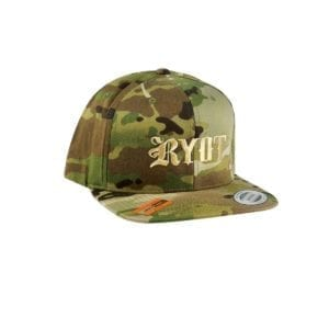 RYOT Logo Classic Snapback Hat – Brown Camo