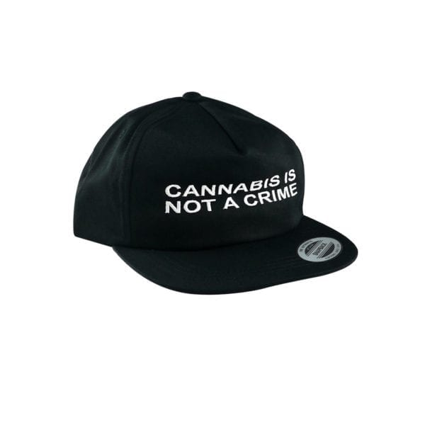 """Not a Crime"" Unconstructed Hat – Black"
