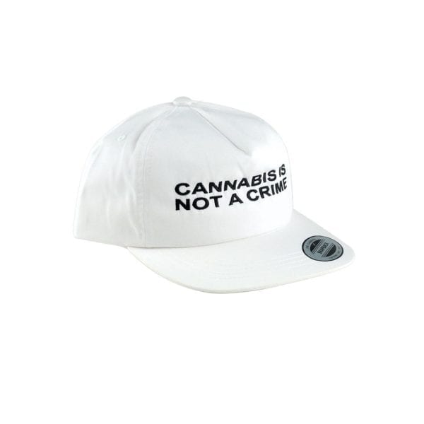 """Not a Crime"" Unconstructed Hat – White"